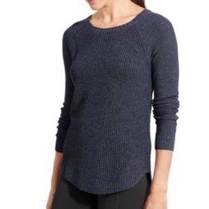 athleta kennewick wassal crew neck sweater blue S